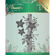 Find It Trading Jeanine's Art Christmas Flowers- Poinsettia Border Cutting Die Set JAD10105