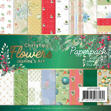 "Find It Trading Jeanine's Art- Christmas Flowers 6""x6"" Paperpack JAPP10016"