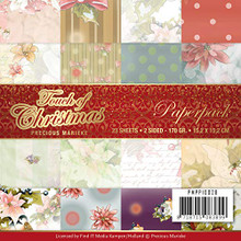 Precious Marieke- Touch of Christmas 6X6 Paper Pack- 23 Double-Sided papers- PMPP10028