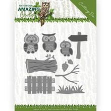Find It Trading Amy Design- Amazing Owls- Owl Family Cutting Die Set ADD10217