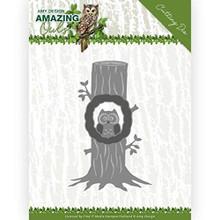 Find It Trading Amy Design- Amazing Owls- Owl in Tree Cutting Die Set ADD10218