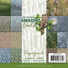 """Find It Trading Amy Design 6""""x6"""" Paper Pack- Amazing Owls ADPP10035"""