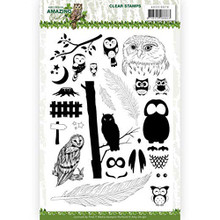 Find It Trading Amy Design- Amazing Owls Clear Stamps- ADCS10070