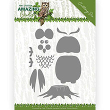 Find It Trading Amy Design- Amazing Owls- Build Up Owl Cutting Die Set ADD10216