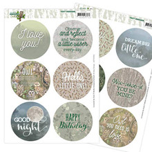 Amy Design Text Designs- Amazing Owls- 12 Circular Push Out Text Designs- ADTD1004