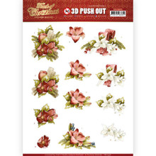 Precious Marieke 3D Push Out- Touch of Christmas- Red Flowers SB10458