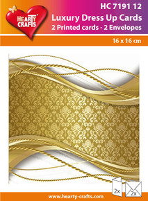 Luxury Dress Up Cards HC719112 Two Cards with White 6.5x6.5 Envelopes