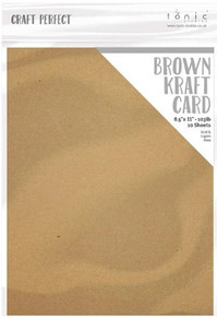 "Craft Perfect- 8.5""x11"" Brown Kraft Card- 10 sheets- 9559E"