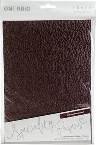 Craft Perfect Specialty Papers- Soft Leather Jacket- A4 Hand Crafted Cotton Papers 9794e