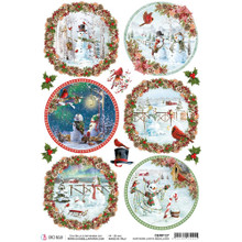 Ciao Bella Papercrafting Rice Paper Northern Lights Medallions CBRP127