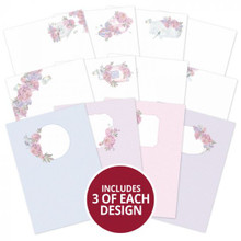 Hunkydory Crafts Peony Promise Luxury Card Inserts - 36 Sheets (3 Each 12 Designs)