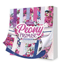 Hunkydory Crafts Peony Promise 8x8 Paper Pad 48 Double-Sided Pages