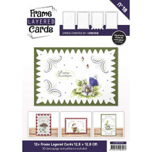 Find It Trading Frame Layered Cards No18 with Dot & Do Patterns & 3D Sheet