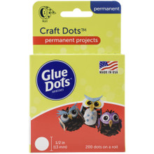 "Glue Dots 200 1/2"" Permanent Clear Dots"