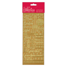 Docrafts Create Christmas- Contemporary Xmas Relations- Gold