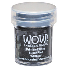 WOW Embossing Powders Primary Ebony Super Fine- 0.5oz (15 ml)