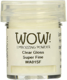 WOW Embossing Powders Clear Gloss Super Fine- 0.5oz (15 ml)
