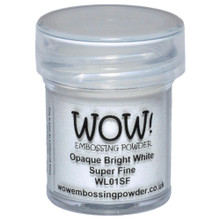 WOW Embossing Powders Opaque Bright White Super Fine- 0.5oz (15 ml)