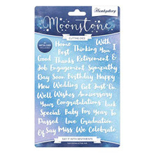 Hunkydory Moonstone Cutting Dies- Say it with Sentiments MSTONE258