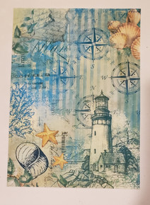 Imagination Crafts A4 Rice Paper- Nautical Notions Lighthouse