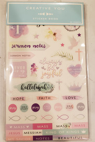 Horizon Group Creative You- Sticker Book- Bible Journaling- 20 sheets