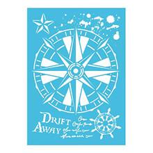 Imagination Crafts A4 Stencil- Nautical Compass