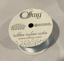 "Offray Satin - 1.5"" x 12 Feet Ribbon - Light Blue Soft, Silky and Beautiful"