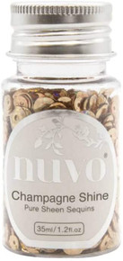 Nuvo Pure Sheen Sequins 1.2oz- Champagne Shine