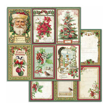 Stamperia Double-Sided 12x12 Cardstock- Cards Classis Christmas- Includes 3 sheets
