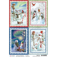 Ciao Bella Papercrafting Rice Paper - The Sound of Winter Cards - CBRP081