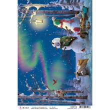 Ciao Bella Papercrafting Rice Paper Northern Lights - LG iMAGE CBRP130