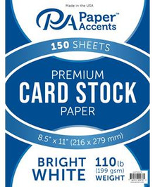 """Paper Accents- 8.5""""x11"""" Bright White Premium Cardstock Paper- 150 sheets"""