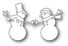 Memory Box 100% Steel Dancing Snowmen Dies 30115