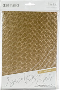 Tonic Studios 9795E Craft Perfect A4 Handcrafted Cotton Papers 5/Pkg Woven Hide, Multi
