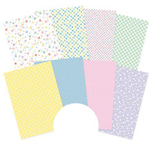 Hunkydory Crafts Adorable Scorable Pattern Pack - Polka Party - 350gsm
