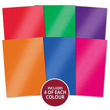 Hunkydory Crafts Mirri Essentials - Harlequin Brights 220gsm Mirror Card MCD405