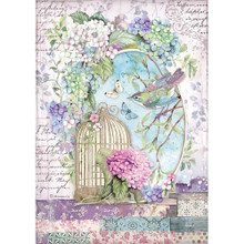 Stamperia Intl Hortensia Cage Rice Paper Sheet A4