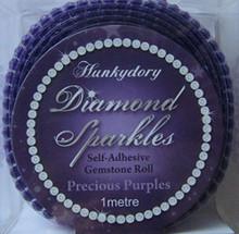 Hunkydory Diamond Sparkles PRECIOUS PURPLES Self-adhesive Gemstone Roll (1 meter of Connected 3mm gems)- Gem235