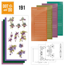 Dot and Do Peel Sticker Card Making Kit- Purple Flowers DODO191