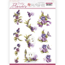 Precious Marieke - Pretty Flowers - FLOWERS AND SWAN PUSH OUT SB10501 Paper Tole 3-D Decoupage