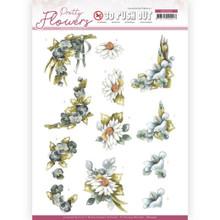 Precious Marieke - Pretty Flowers -BLUE FLOWERS PUSH OUT SB10500 Paper Tole 3-D Decoupage