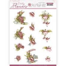 Precious Marieke - Pretty Flowers -RED FLOWERS PUSH OUT SB10499 Paper Tole 3-D Decoupage
