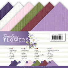 Find It Trading Precious Marieke Timeless Flowers A5 Linen Paper PM-A5-10017