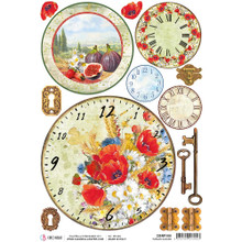 Ciao Bella Papercrafting Rice Paper Tuscan Clocks