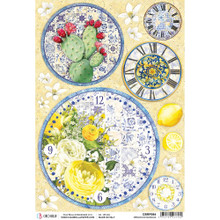 Ciao Bella Papercrafting Rice Paper Orology Di Maiolica Clocks