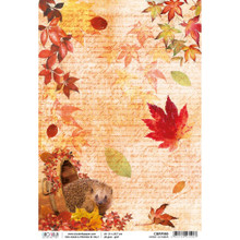 Ciao Bella Papercrafting Rice Paper Sweet October - Hedgehog