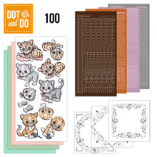 Dot and Do 100 - KITTEN Dot and Do Peel Sticker Card Making Kit DODO100