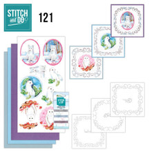 Find It Trading Stitch and Do 121 - Winter Friends - Embroidery on Paper kit