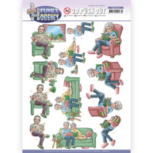 Find It Trading Yvonne Creations Funky Hobbies Reading Push out Sheet