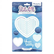 Hunkydory Crafts - Stitch It Follow your Heart- Moonstone MSTONE256
